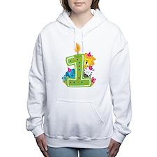 First Birthday Green Women's Hooded Sweatshirt