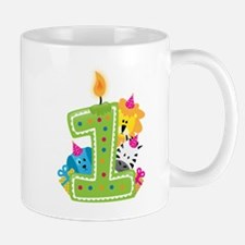 First Birthday Green Mugs