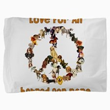 peacedogs01a.png Pillow Sham