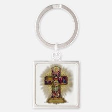 Easter Cross Keychains