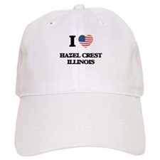 I love Hazel Crest Illinois Baseball Baseball Cap