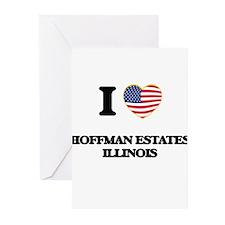 I love Hoffman Estates Illinois Greeting Cards