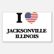 I love Jacksonville Illinois Decal