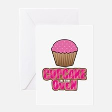 Cupcake in the Oven Greeting Cards