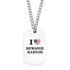 I love Kewanee Illinois Dog Tags