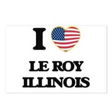I love Le Roy Illinois Postcards (Package of 8)