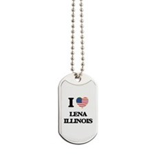 I love Lena Illinois Dog Tags