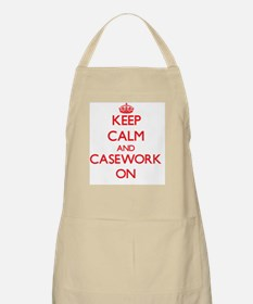 Keep Calm and Casework ON Apron