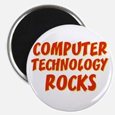 "Computer Technology~Rocks 2.25"" Magnet (10 pack)"