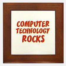Computer Technology~Rocks Framed Tile