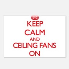 Keep Calm and Ceiling Fan Postcards (Package of 8)