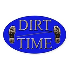 Dirt Time Oval Decal