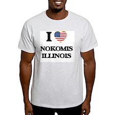 I love Nokomis Illinois T-Shirt