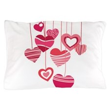 PINK HEARTS Pillow Case