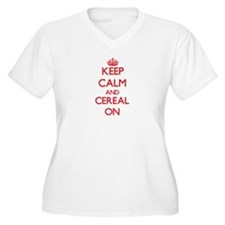 Keep Calm and Cereal ON Plus Size T-Shirt