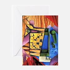 Juan Gris - Backgammon Greeting Card