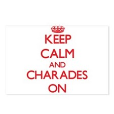 Keep Calm and Charades ON Postcards (Package of 8)