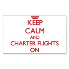 Keep Calm and Charter Flights ON Decal