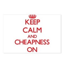 Keep Calm and Cheapness O Postcards (Package of 8)