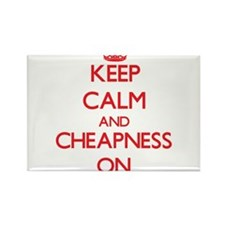 Keep Calm and Cheapness ON Magnets