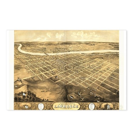 Lawrence, Kansas 1869 Postcards (Package of 8)