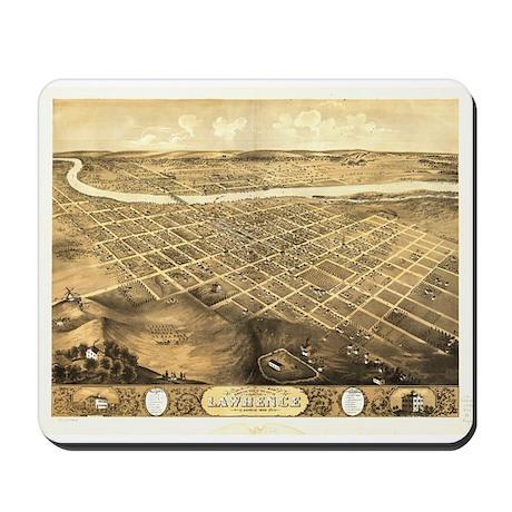 Lawrence, Kansas 1869 Mousepad