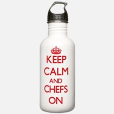 Keep Calm and Chefs ON Water Bottle