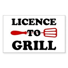 Licence to Grill Decal