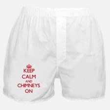 Keep Calm and Chimneys ON Boxer Shorts