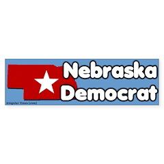 Nebraska Democrat Bumper Bumper Sticker