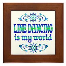 Line Dancing is my World Framed Tile