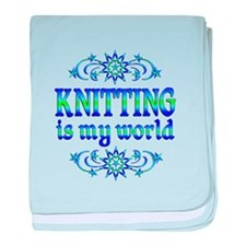 Knitting is my World baby blanket