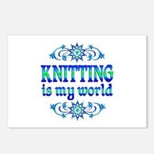 Knitting is my World Postcards (Package of 8)