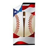 Baseball bat Beach Towels