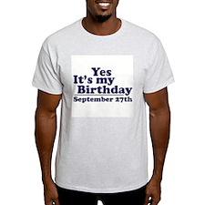 September 27th Birthday T-Shirt