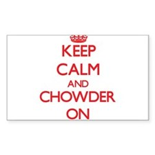 Keep Calm and Chowder ON Decal