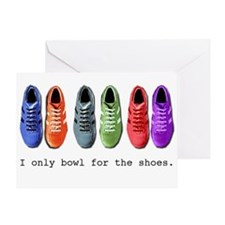 Bowling shoes Greeting Card