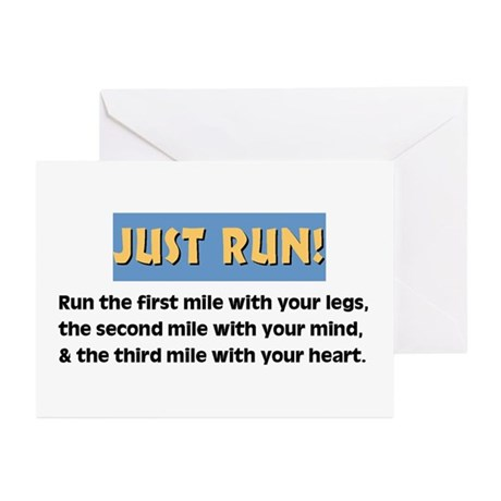 Run with your heart Greeting Cards (Pk of 10)
