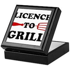 Licence to Grill Keepsake Box
