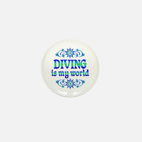 Diving is my World Mini Button
