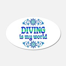 Diving is my World Wall Decal