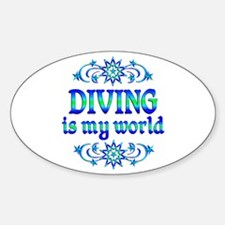 Diving is my World Sticker (Oval)