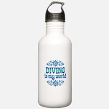 Diving is my World Water Bottle