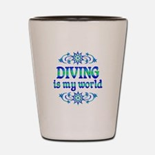Diving is my World Shot Glass