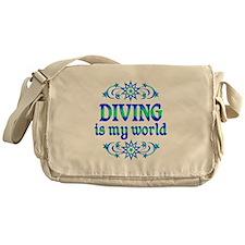Diving is my World Messenger Bag