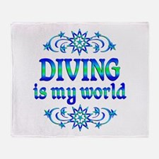 Diving is my World Throw Blanket