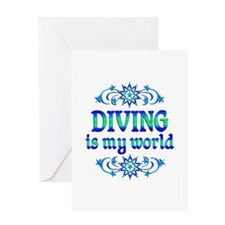 Diving is my World Greeting Card