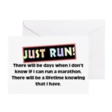 Runner marathon Greeting Cards