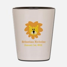 CUSTOM Lion w/Baby Name and Birth Date Shot Glass