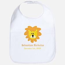 CUSTOM Lion w/Baby Name and Birth Date Bib